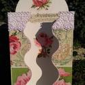 Papírzsebkendő tartó csipkével, Otthon, lakberendezés, Tárolóeszköz, Halvány rózsaszín csipkével dekorált, hullámos szélű papírzsebkendő tartó. Romantikus han..., Meska