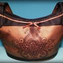 """Gigush Design """"Bronze and black India"""" táska, Táska, Ruha, divat, cipő, Képzőművészet, Válltáska, oldaltáska, Varrás, Fotó, grafika, rajz, illusztráció, Szeretnéd meglepni magadat vagy szeretteidet egy különleges táskával? Bátran ajánlom ezt a kiegészí..., Meska"""