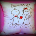 """""""Szeretlek"""" párna (akár névvel, dátummal is) VALENTIN NAPRA!, Ez a pihe-puha cuki párna tökélestes ajándék ..."""