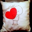 Gigush Design cuki szeretlek párna , Otthon, lakberendezés, Esküvő, Valentin napra, Lakástextil, Párna, Ez a pihe-puha cuki párna tökélestes ajándék szeretteidnek. Biztos hogy örülne neki. A rajzot textil..., Meska