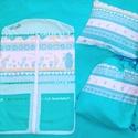 Ovis csomag kék, Baba-mama-gyerek, Gyerekszoba, Tárolóeszköz - gyerekszobába, Falvédő, takaró, Minőségi designer textilből készített csomag. Lepd meg vele lurkódat. :)  A csomag tartalma: -1 db o..., Meska