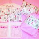 Ovis csomag cicás, Baba-mama-gyerek, Gyerekszoba, Tárolóeszköz - gyerekszobába, Falvédő, takaró, Minőségi designer textilből készített csomag. Lepd meg vele lurkódat. :)  A csomag tartalma: -1 db o..., Meska