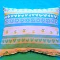 Kék párna, Otthon, lakberendezés, Baba-mama-gyerek, Gyerekszoba, Falvédő, takaró, Minőségi designer textilből készített pihe-puha párna. 30 x 25 cm. , Meska