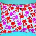 Rókás párna, Otthon, lakberendezés, Baba-mama-gyerek, Gyerekszoba, Falvédő, takaró, Minőségi designer textilből készített pihe-puha párna. 30 x 25 cm. , Meska