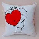 Cuki szeretlek párna (akár névvel, dátummal is) VALENTIN NAPRA!, Otthon, lakberendezés, Szerelmeseknek, Lakástextil, Párna, Ez a pihe-puha cuki párna tökélestes ajándék szeretteidnek. A rajzot textilfestékkel készíteM (a pár..., Meska