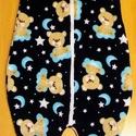 Tipegős hálózsák macis-holdas, Baba-mama-gyerek, Ruha, divat, cipő, Gyerekruha, Kisgyerek (1-4 év), Ez a pihe-puha hálózsák, teret ad a gyerkőcök szabad, és kényelmes mozgásának,és alvásának. Lába kam..., Meska