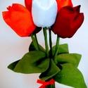 Textil tulipán, örök csokrok tetszőleges színben, Anyák napja, Dekoráció, Csokor, Dísz, Textil tulipán, örök csokor rendelhető választható színben.  500 Ft/ szál. , Meska
