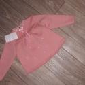 """""""Rózsaszín hópihék""""...pulóver, Ruha, divat, cipő, Gyerekruha, Gyerek (4-10 év), Kisgyerek (1-4 év), Gyermek pulóver Méret: 116 Alapanyag: 96% pamut, 4% PE Belső fele bolyhos Pom-pom alapanyaga: PE Sza..., Meska"""