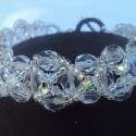 Shine ! Swarovski kristály karkötő, Ékszer, óra, Karkötő,   6mm üveggyöngyből 3 és 4 mm swarovski gyöngyből készítettem . Kristaly ab színben ami nagyon csill..., Meska