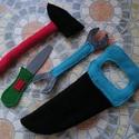 Barkács játék,szerszám készlet, Játék, Kerti játék, Varrás, Puha gyapjúfilc és polár felhasználásával készült játékok Hosszuk 16-26 cm Három nagy előnyük van: ..., Meska