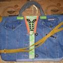 Egyedi farmer táska, Táska, Válltáska, oldaltáska, Hatalmas pakolós táska teljesen egyedi kivitelben Magassága 34 cm,szélessége 40-56 cm Bősége körbe 5..., Meska