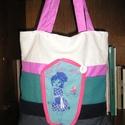 Egyedi bevásárló táska, Táska, Válltáska, oldaltáska, Bevásárló táska mindennapi használatra Mérete 36x38 cm,pántok hossza 60 cm Kész darab,nem kell rá vá..., Meska