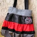 Romatic shabby táska, Táska, Válltáska, oldaltáska, Egyedi női táska romantikus stílusban Magassága 40 cm,szélessége 34-58 cm Pántok hossza 68 cm,bősége..., Meska