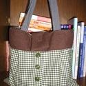 Egyedi gyapjú táska, Táska, Válltáska, oldaltáska, Egyedi női táska gyapjúszövetből Magassága 34 cm, szélessége 34-40 cm, pántok hossza 62 cm Utalás be..., Meska
