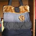 Egyedi női táska, Táska, Válltáska, oldaltáska, Egyedi női táska Magassága 40 cm,szélessége 36-50 cm,pántok hossza 64 cm Kész darab,nem kell rá várn..., Meska