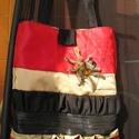 Egyedi goth/gothic/dark táska, Táska, Válltáska, oldaltáska, Varrás, Egyedi pókos táska Mérete 34x38 cm,pántok hossza 60 cm Egy belső zsebe van Kész darab,nem kell rá v..., Meska