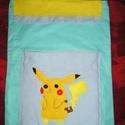 Pokémon oviszsák - Pikachu ovizsák, Baba-mama-gyerek, 40x50 cm méretű kétrétegű (bélelt) ovis zsák elején nagy zsebbel Utalás beérkezte után eg..., Meska