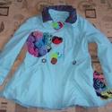 Egyedi női ballonkabát, átmeneti kabát L - es, Ruha, divat, cipő, Desigual ihlette átmeneti kabát a különleges darabok kedvelőinek A kabátot készen vásároltam, majd a..., Meska