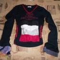 Egyedi női hippi pulóver S/M - es, Ruha, divat, cipő, Női ruha, Készen vásárolt REPLAY pulóvert tettem egyedivé Hossza 56 cm Mellbőség 84 cm Vállszélesség 10 cm Ujj..., Meska