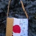 Egyedi rókás táska, Táska, Válltáska, oldaltáska, Nagy, pakolós táska alvó rókával Mérete 38x42 cm Vatelinnel erősített Pánt hossza max. 120 cm Tetejé..., Meska