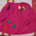 Egyedi női hippi blúz, ing XS/S, Ruha, divat, cipő, Női ruha, Blúz, Készen vásárolt pamutvászon inget tettem raszta stílusúvá gyapjúfilc felhasználásával Blúz hossza 60..., Meska