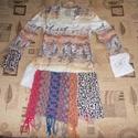 Egyedi ethnic tunika S/M, Ruha, divat, cipő, Női ruha, Garantáltan egyedi felső a különleges darabok kedvelőinek Hossza 66-82 cm Mellbősége 84 cm (rugalmas..., Meska