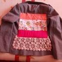 Baglyos blézer XS - es, Ruha, divat, cipő, Női ruha, Kabát, Készen vásárolt blézert tettem vidám stílusú kis kabátkává Hossza 58 cm Mellbőség 80 cm Derékbőség 7..., Meska