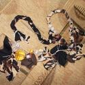 """Párducmintás nyaklánc - Egyedi textil nyaklánc, Ékszer, Nyaklánc, Egyedi nyaklánc a """"dögös"""" darabok kedvelőinek Hossza körbe 74 cm Utalás beérkezte után egy napon bel..., Meska"""