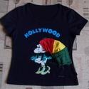 Hippi Minnie póló - Egyedi raszta póló S - es, Ruha, divat, cipő, Női ruha, Felsőrész, póló, Készen vásárolt Minnie pólót tettem egyedivé 3D-ben rávarrt raszta sapkával Hossza 50 cm Mellbőség 8..., Meska