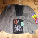 Desigual stílusú blézer - Egyedi női gyapjú zakó S-es, Ruha, divat, cipő, Női ruha, Kabát, Készen vásárolt, tiszta gyapjú blézert tettem egyedivé Átmeneti kabátként is használható Hossza 62 c..., Meska