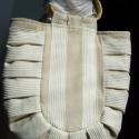 """Lenvászon táska bambusz füllel, Táska, Nagyon szép lenvászon táska, oldalt rakott, amolyan \""""Giovannás\"""". Szélessége 40 cm, hossza 56..., Meska"""