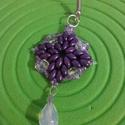 Kikerics - tavaszváró fülbevaló, Ékszer, Fülbevaló, Erőteljes lila színben pompázó fülbevaló, japán gyöngyökből készítettem. Nőies, kihívó viselet határ..., Meska