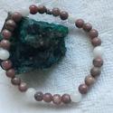 Mályva - lepidolit , rózsakvarc, Ékszer, Karkötő, Természetes lepidolit és rózsakvarc karkötő, gyönyörű mályva színben. Az ásványok méret..., Meska