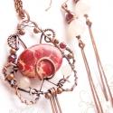 Csipkefa... egyedi vörösréz ékszerszett, Vörösrézből, teljesen kézzel készült, antik...