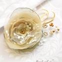 Villő - egyedi alkalmi, menyasszonyi hajdísz, Esküvő, Hajdísz, ruhadísz, VILLŐ (magyar-szláv) egy tavaszköszöntő népi szokásból (villőzés) eredő név, jelentése: lomb; tündér..., Meska