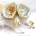 Villő - egyedi alkalmi, menyasszonyi öv, Esküvő, Hajdísz, ruhadísz, VILLŐ (magyar-szláv) egy tavaszköszöntő népi szokásból (villőzés) eredő név, jelentése: lomb; tündér..., Meska