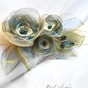 Bereniké - egyedi alkalmi, menyasszonyi öv, Esküvő, Hajdísz, ruhadísz, BERENIKÉ (görög-makedón) jelentése győzelmet, diadalt hozó...  Egyedi menyasszonyi öv, melynek virág..., Meska
