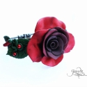 Vörös rózsa karkötő (Gloriosa) - Meska.hu