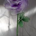 harisnyából készült rózsa szál, Otthon & Lakás, Dekoráció, Újrahasznosított alapanyagból készült termékek, Mindenmás, Rózsát kedvelők  örökös ajándéka. Szívvel, lélekkel készítettem, ezt a gondozást nem igénylő, marad..., Meska