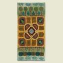 Látóhatár II. nemezkép, Méret: 64 x 130 cm , Dekoráció, Képzőművészet, Kép, Textil, Látóhatár II. 2013 nemez, egyéni technika, méret: 64 x 130 cm  Ez a  kép a barokk kertek soroz..., Meska
