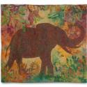 Még létezők I.   Afrikai elefánt, 126 x114 cm, nemez, Képzőművészet, Otthon, lakberendezés, Textil, Falikép, Nemezelés, Ezen a képen mintegy a hiányt előrevetítve, felerősítve, árnyképként jelenik meg az elefánt. Hol va..., Meska