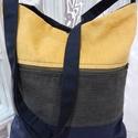 A nagy csíkos :), Táska, Válltáska, oldaltáska, Extra nagy és erős táskát készítettem Nektek, sok-sok zsebbel. Az öt zseb közül kettő húz..., Meska