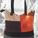 Kockás kedvenc :), Táska, Válltáska, oldaltáska, Varrás, Csodás színek kombinációja ezen a 36x34 méretű táskán. A kockák elrendezése különböző a termék mind..., Meska