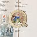 Hóemberes gumis könyvjelző, Baba-mama-gyerek, Naptár, képeslap, album, Könyvjelző, Hímzés, Varrás, Cuki hóemberes könyvjelző hópihe gombbal.A könyvjelző kis könyvre-nagykönyvre is ideális.  Személye..., Meska