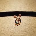 Plútó gombnyaklánc, Ékszer, Nyaklánc, A Disney-ből ismert Plútót megformáló műanyag gombból készült el a képeken látható nyakl..., Meska