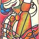 Vibók: Vízparton Söröző Nő 43x70 cm (plussz keret) pasztell kép, Dekoráció, Képzőművészet, Kép, Vegyes technika, Festészet, Vibók: Vízparton Söröző Nő 43x70 cm (plusz keret) pasztell kép  Jelzett pasztell kép dammarlakkal f..., Meska