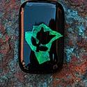 Fekete Tulipán medál - 2.5x4,2cm, Ékszer, Medál, Nyaklánc, Fekete Tulipán  Kemencében Spektrum üvegből olvasztott medál. Egyedi kézműves alkotás. A med..., Meska