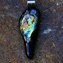 Egy Cseppben - medál, Ékszer, óra, Medál, Nyaklánc, Ékszerkészítés, Üvegművészet, Egy Cseppben - medál Méret: hossza: 3,7cm Kemencében francia Bullseye üvegből olvasztott medál. Egy..., Meska