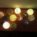 Csokoládé fényfüzér, Otthon, lakberendezés, Dekoráció, Baba-mama-gyerek, Esküvő, Mindenmás, Egyedi, kézzel készített gömb fényfüzér!  Garantáltan otthonossá teszi a szobád! 12 egyedi gömb szű..., Meska