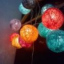 Barcelona fényfüzér, Otthon, lakberendezés, Dekoráció, Baba-mama-gyerek, Ünnepi dekoráció, Mindenmás, Egyedi, kézzel készített gömb fényfüzér!  Garantáltan otthonossá teszi a szobád! 12 egyedi gömb szű..., Meska